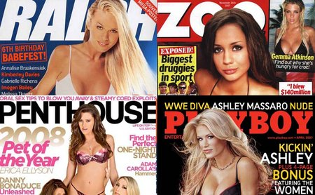 Las revistas porno, son tan solo una pequeña parte del gran negocio de la industria pornografica