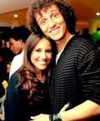 David Luiz y enamorada